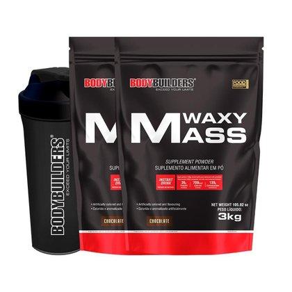 KIT 2x Waxy Mass 3kg + Coqueteleira - Bodybuilders
