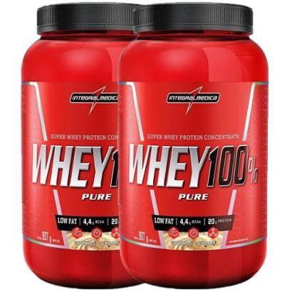 Kit 2x Whey 100% Pure 907g Integralmedica