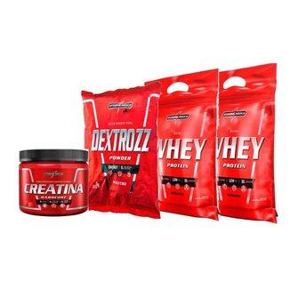 Kit 2x Whey 900g +  Creatina 150g + Dextrozz integralmedica