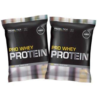 Kit 2x Whey Pro 500g  - Baunilha - Probiótica