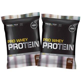 Kit 2x Whey Pro 500g  - Chocolate - Probiótica