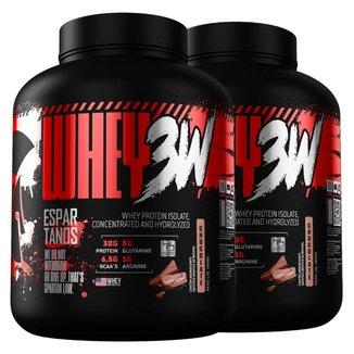 Kit 2x Whey Protein 3w 1,8kg Espartanos Total 3,6kg