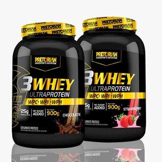 Kit 2X Whey Protein 3W  900G    Pretorian