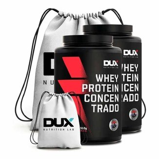 Kit 2X Whey Protein Concentrado 900G + Mochila  - Dux Nutrition Lab (Baunilha)