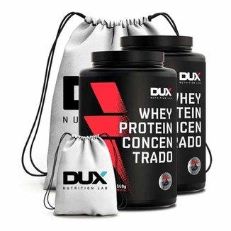 Kit 2X Whey Protein Concentrado 900G + Mochila  - Dux Nutrition Lab (Morango)