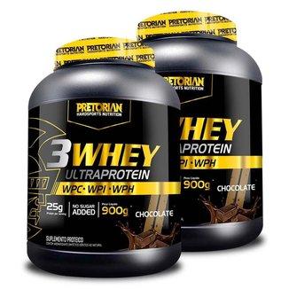 Kit 2x Whey Ultra Protein 3W 900g - Pretorian