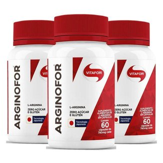 Kit 3 Arginofor Vitafor 60 Cápsulas