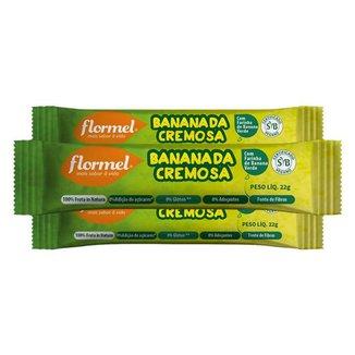 Kit 3 Bananada Cremosa Flormel Zero Açucar 22g