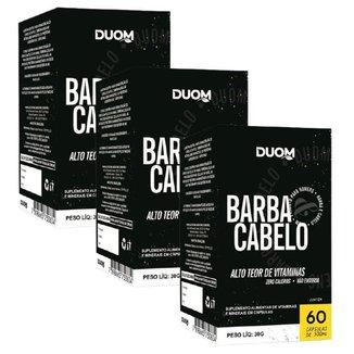 Kit 3 Barba e Cabelo 60 Capsulas - Duom