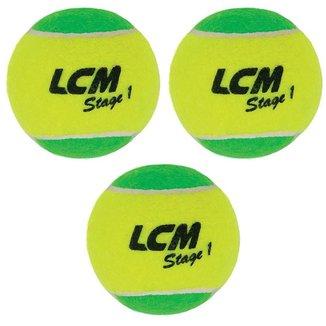 Kit 3 Bolas De Tênis Stage 1 Lcm