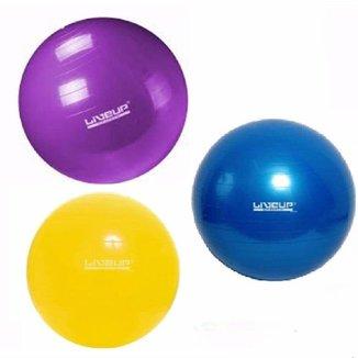 Kit 3 Bolas Suíças KL Master Liveup Pilates Yoga Ginástica
