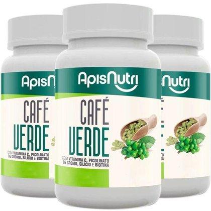 Kit 3 Café Verde Apisnutri 90 comprimidos