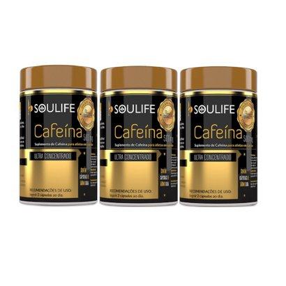 Kit 3 Cafeína Soulife 500mg – 60 Cáps