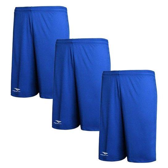 Kit 3 Calções Penalty X Masculino - Azul Royal