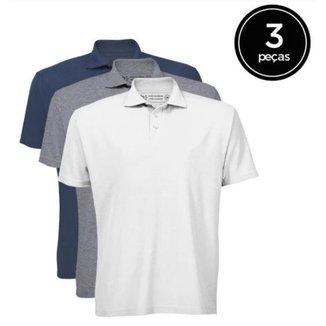 Kit 3 Camisas Polo Masculina A