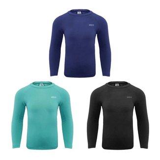 Kit 3 Camisas Térmicas Selene Proteção UV Manga L