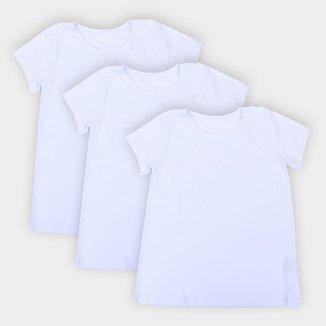 Kit 3 Camisetas Básicos Feminina