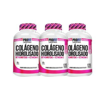 Kit 3 Colágeno Hidrolisado 120 cápsulas – ProFit