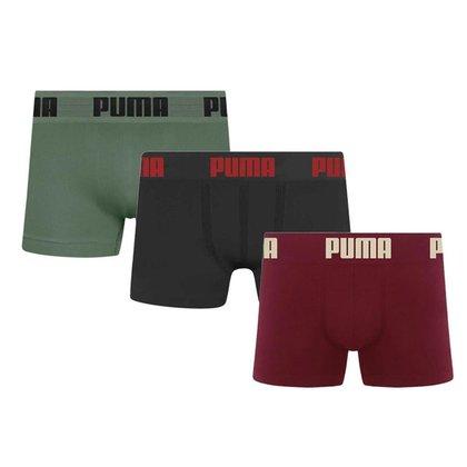 Kit 3 Cuecas Boxer Sem Costura Infantil