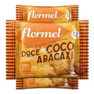 Kit 3 Doce Abacaxi com Coco Zero Açúcar Flormel