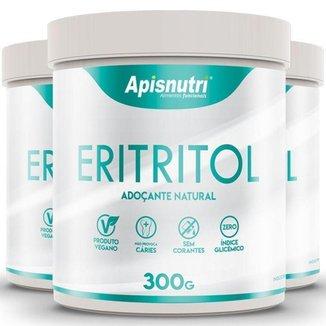 Kit 3 Eritritol adoçante natural Apisnutri 300g