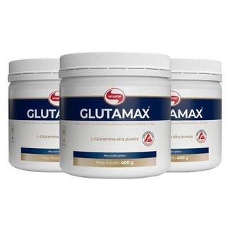 Kit 3 Glutamina Glutamax em pó Vitafor 400g