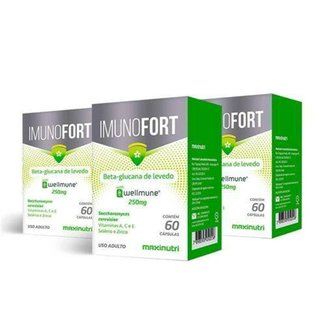 Kit 3 Imunofort Wellmune 250mg 60 Cápsulas Maxinutri