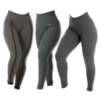 KIT 3 LEGGINGS SORTIDAS SUPLEX GROSSO