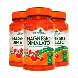 Kit 3 Magnésio Dimalato - 60 Cápsulas - Katiguá