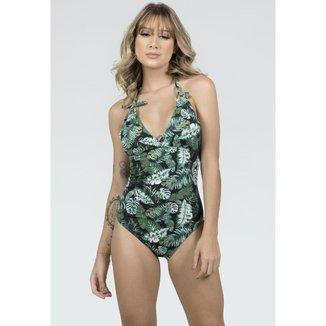 Kit 3 Maiô Feminino Com Bojo Lycra Estampado Costa Nua