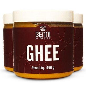 Kit 3 Manteɪga Ghee Benni alimentos 500g