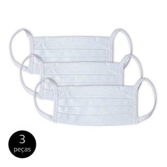 Kit 3 Máscara de Proteção Adulto em Algodão Lavável Mash