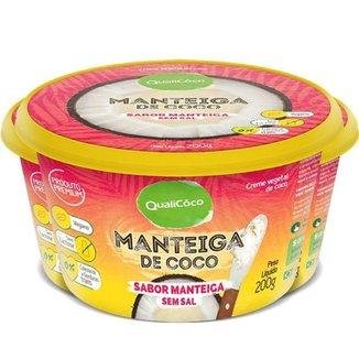 Kit 3 Maŋteiga de coco Qualicôco 200g