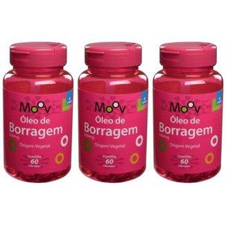 Kit 3 Óleo de Borragem 60 cápsulas - Alivia sintomas da TPM e menopausa