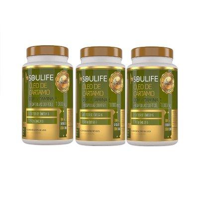 Kit 3 Óleo de Cártamo Com Vitamina E 1000mg 150 Cáps Soulife
