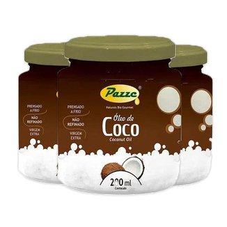 Kit 3 Óleo de Coco 200ml Pazze