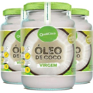 Kit 3 Óleo de coco virgem Qualicôco 500ml