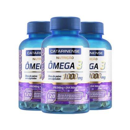 Kit 3 Ômega 3 EPA 540mg DHA 360mg Catarinense 120 cápsulas
