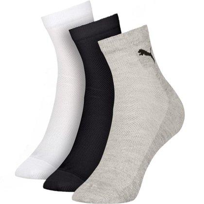 Kit 3 pares de meias Cano Médio Algodão Puma 4740/4510