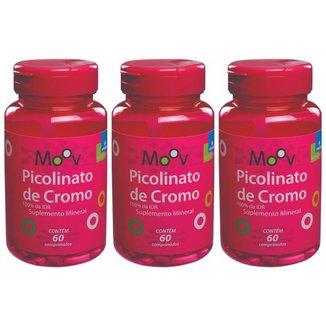 Kit 3 Picolinato De Cromo - Reduz Vontade Por Doces- 60 comprimidos