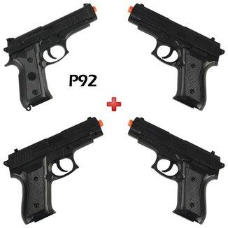 Kit 3 Pistola Airsoft Spring Vigor P1918 + Pistola Airsoft Spring Vigor P92