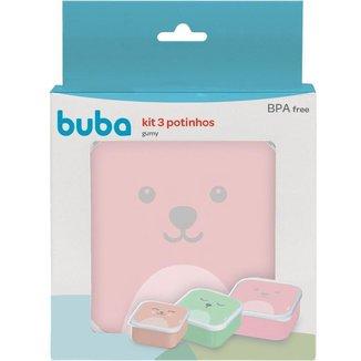 Kit 3 Potinhos Gumy Buba Baby