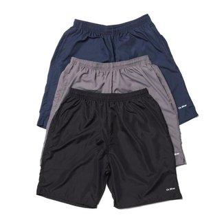 Kit 3 Shorts Curto Tecno Ligth OX com Bolsos Frente e Costa