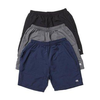 Kit 3 Shorts Tactel OX com Bolsos Frente e Costa |