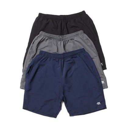 Kit 3 Shorts Tactel OX com Bolsos Frente e Costa  