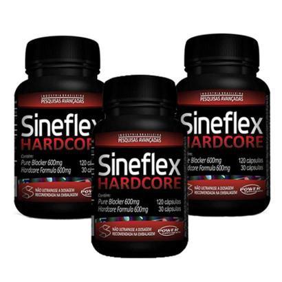 Kit 3 Sineflex HardCore – 150 compr – Power Supplements