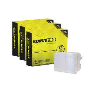 Kit 3 Somapro  60 Comp. + Porta Cápsula