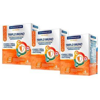 Kit 3 Triplo Imuno - 30 Comprimidos - Catarinense