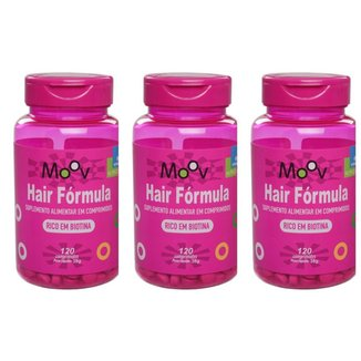 Kit 3 Vitamina P/ Firmeza Crescimento Saúde Dos Cabelos 360 Comprimidos