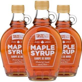 Kit 3 Xar0pe de bordo Maple Syrup 250ml Taste & Co